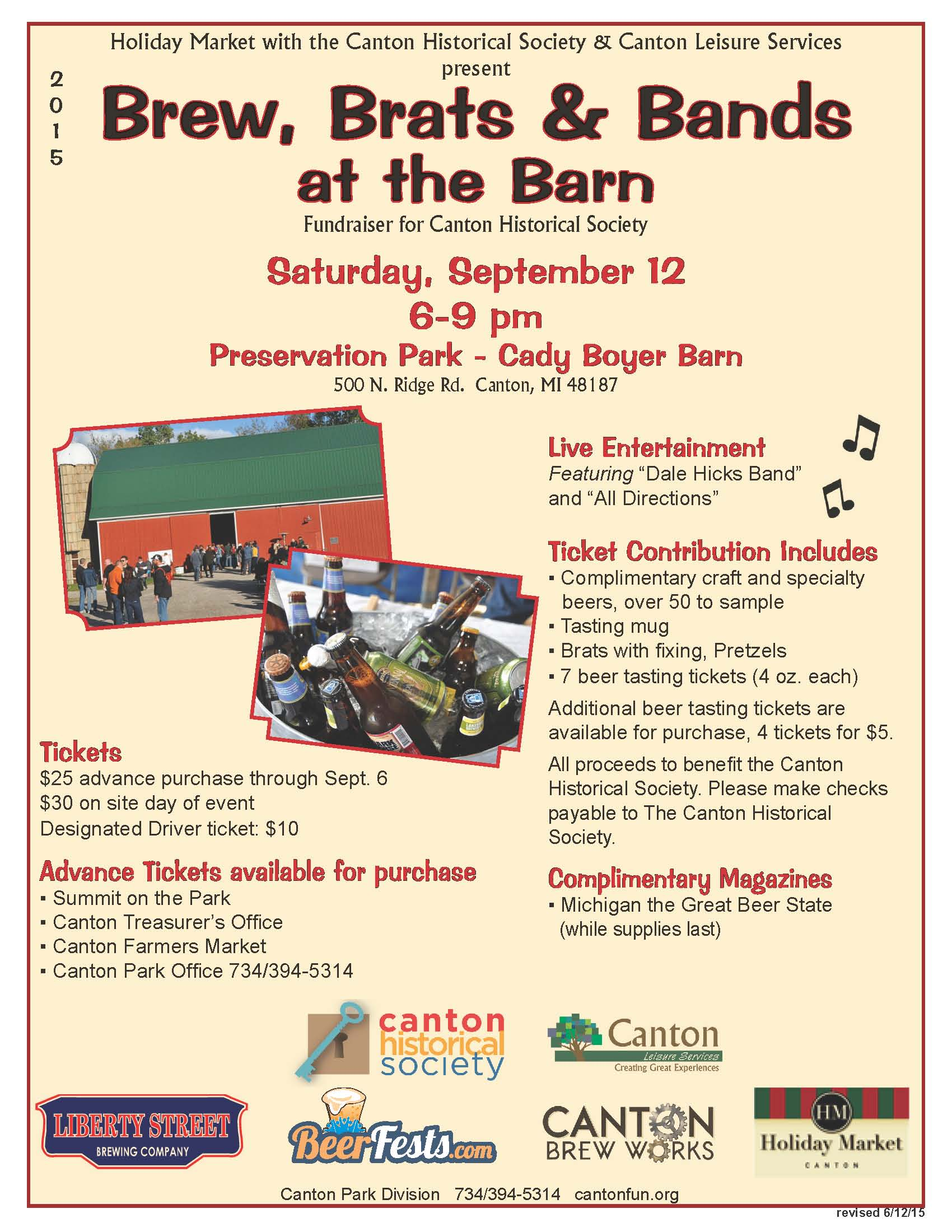Brew Brats and Bands at the Barn