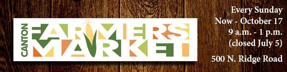 Visit Canton Farmers Market Every Sunday now through October 17th