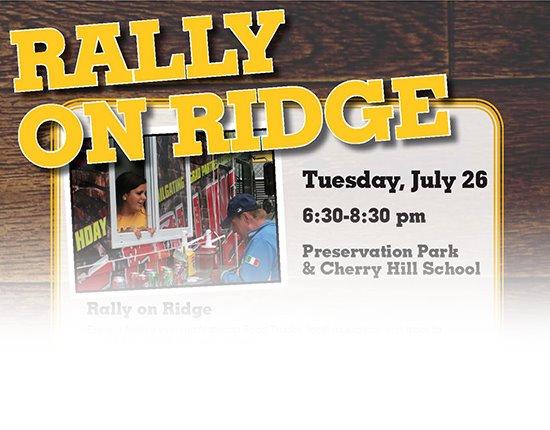 Rally On Ridge | Tuesday July 26 6:30-8:30 pm