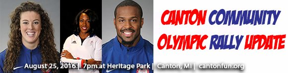Canton Community Olympic Rally Update