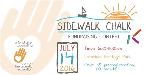 Sidewalk Chalk Contest benefiting Canton TR