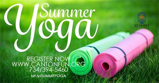 Summer Yoga at the Summit. Register now at www.cantonfun.org