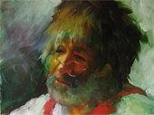 "2016 Canton Fine Arts Exhibition Best of Show by Janet Kondziela,  Oil Painting,  ""Peter #4"""