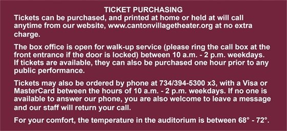 Ticket Purchasing Policy