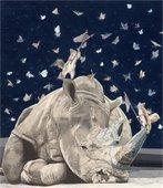 2017 Canton Fine Arts Exhibition Best of Show by Paul Van Heest, entitled: Lepidopterphobic Rhinoceros