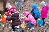 Easter Eggstravanga Event photo of little ones searching for eggs