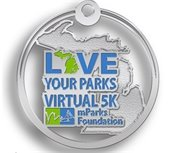 Love Your Parks Virtual 5K medal presented by mParks Foundation