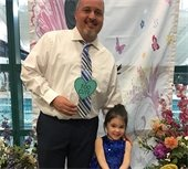 Butterfly Ball Photo featuring a dad and his daughter