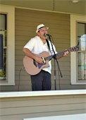 Musician Bob Skon at the Market