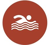 Swim circle icon