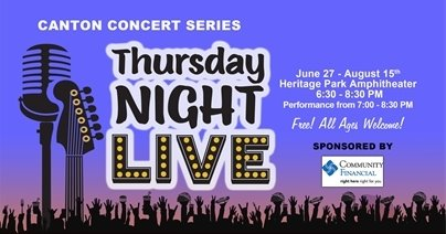 Canton Concert Series Thursday Nigh LIVE logo