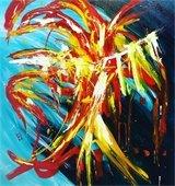 "Artwork image titled ""Firedance"" by Artist Ilham Mahfouz"