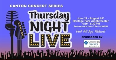 Thursday Night LIVE Concerts through August 15.