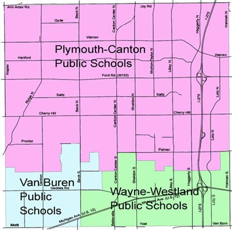 Canton Township School Districts Map