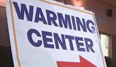 Warming Center Sign