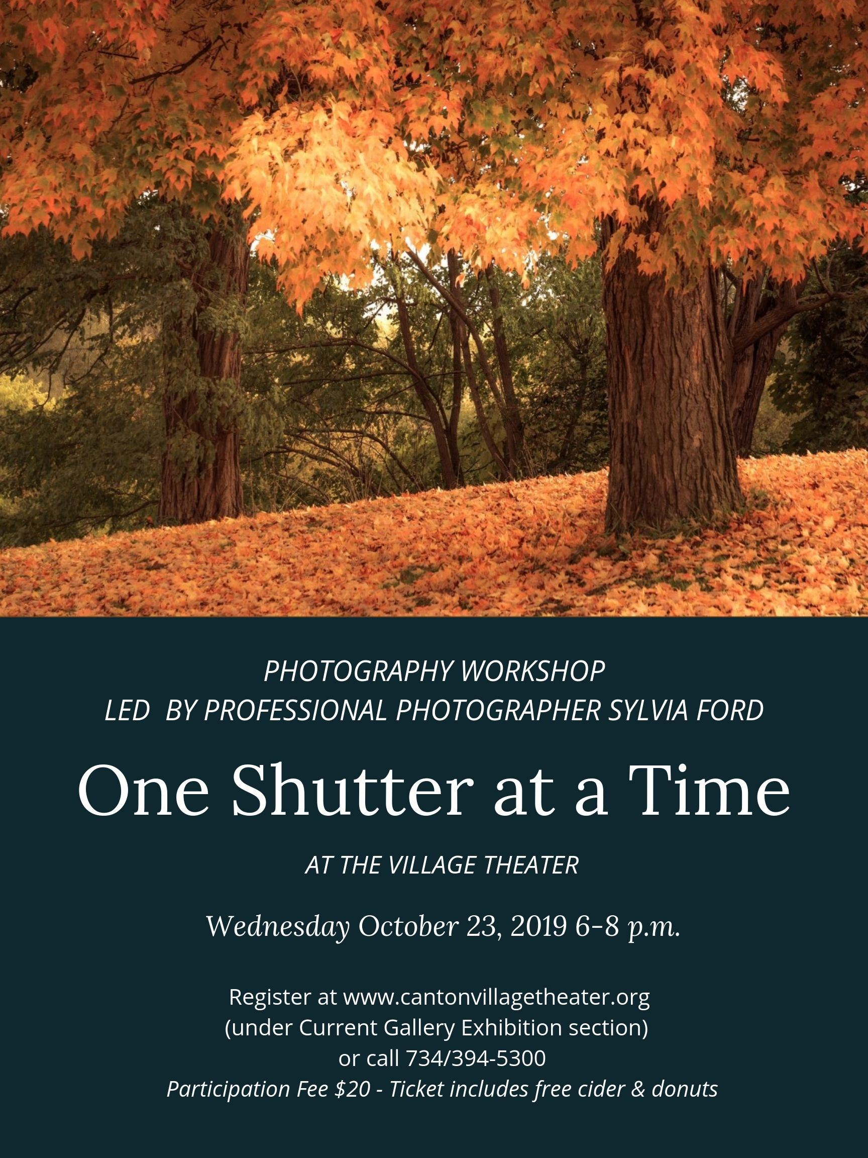 One Shutter at a Time Poster