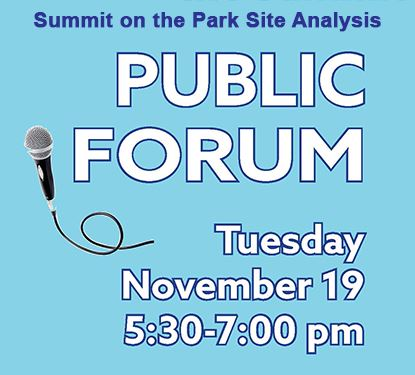 Public Forum Announcement for Summit Feasibility Study on Nov. 19th at 5:30 p.m. at the Summit on th
