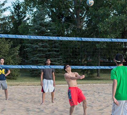 Sand Volleyball photo of players in the sand