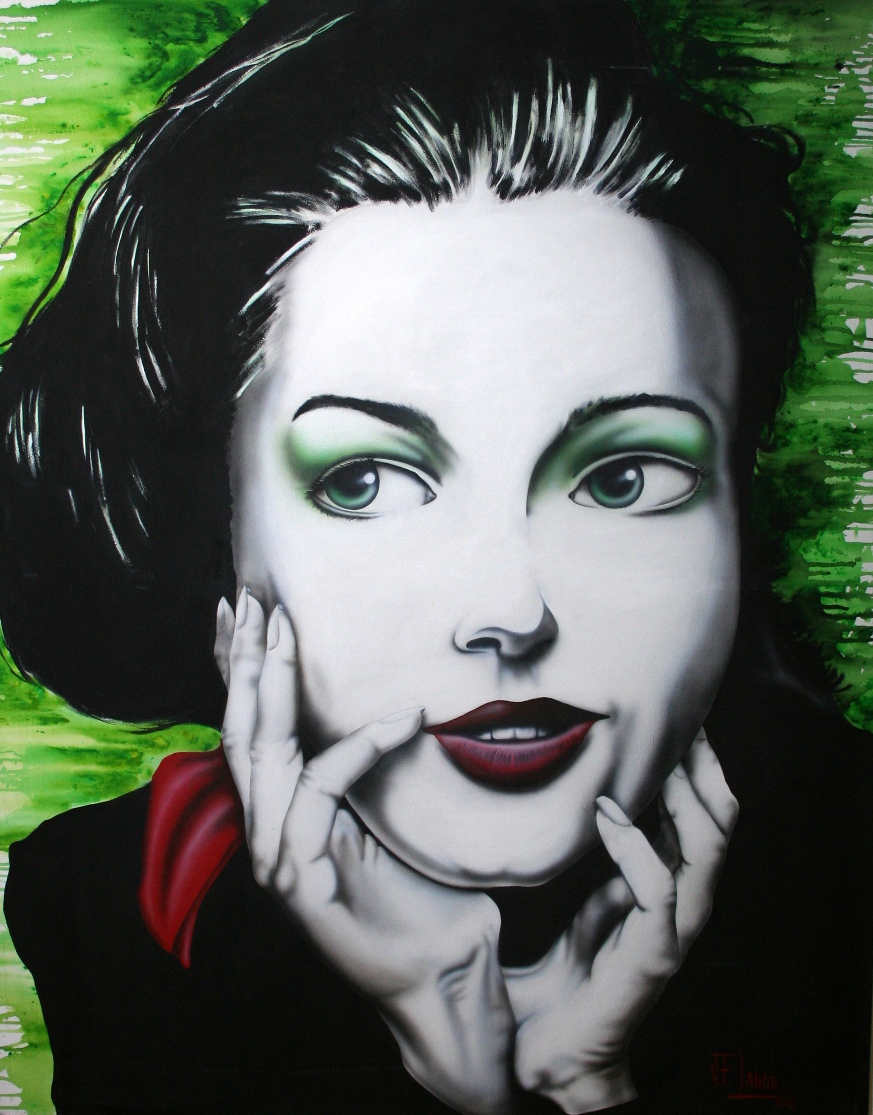 Green Girl by Artist Jon Lange